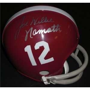 Joe Willie Namath Autographed/Hand Signed Alabama