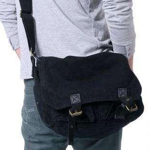 Green Canvas Messenger Shoulder Bag Travel Army Retro