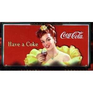 1996 Coca Cola Sign of Good Taste Wide Screen Trading Card