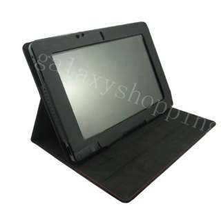 For Acer Iconia Tab W500 Folio Leather Case Cover Black