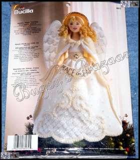 Bucilla White ANGEL TREE TOPPER Felt Christmas Ornament Kit