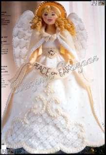 Bucilla White ANGEL TREE TOPPER Felt Christmas Kit