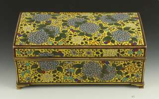INCREDIBLE HIGH QUALITY JAPANESE CLOISONNE BOX