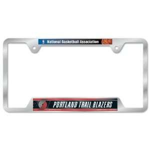 Portland Trail Blazers Metal License Plate Frame Sports