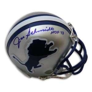 Joe Schmidt Autographed Detroit Lions Mini Helmet
