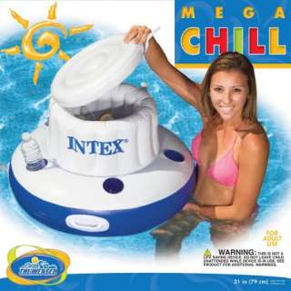 mega chill inflatable floating beverage cooler new refreshment out