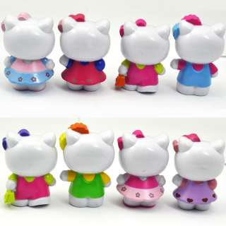 8Pcs Lovely Classic Limited Edition Hello Kitty Toy Figure Collection