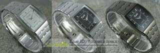 Square Dial Diamonds Quartz Stainless Steel Wrist Watch NEW