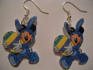 Disney Mickey Mouse Earrings Easter Bunny Costume CUTE