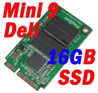 KingSpec IDE PATA Mini PCIe 16GB SSD TO Dell Mini 9 Akd