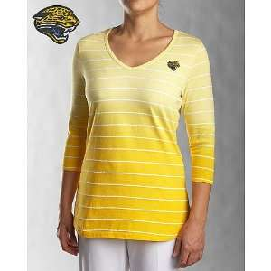 Jaguars Womens 3/4 Sleeve Goal Line T Shirt: Sports & Outdoors