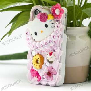 Hello Kitty 3D Deco Bling Case Cover For iPhone 4 PC37
