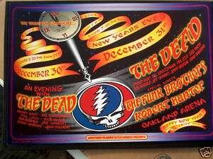 Grateful Dead Original New Years Eve Poster Tuten NM