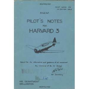 North American Aviation Harvard 3 Aircraft Pilot Notes