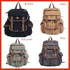 Vintage Womens Mens Casual Canvas Backpack bookbag Rucksack Hiking