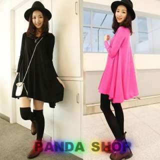 Beautiful Long Sleeve Lady Dress Soft Korean Japanese Trendy Young New