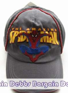MARVEL SPIDERMAN KIDS HAT/CAP 2 COLORS ADJUSTABLE BNWT