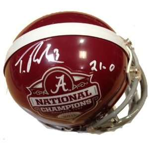 Trent Richardson Autographed/Hand Signed Alabama Crimson Tide National