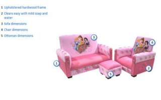 Child Kids Disney Princess Toddler Sofa Couch, Chair Ottoman Furniture