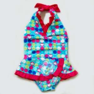 One Piece Girls Halter Swimsuit Kids Beachwear/Swimwear NWT SZ 3 9Y