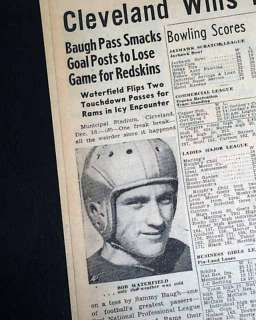 CLEVELAND Rams Win NFL Football Title CHAMPS 1945 Newspaper Bob