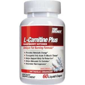 Top Secret Nutrition L Carnitine Plus Raspberry Ketones   60 Liquid