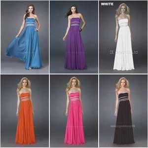 New Stock Chiffon Wedding/Bridesmaid/Evening Dress Prom Gown Sz6/8/10