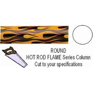 Round Hot Rod Flame Column   Cut to Length: Home