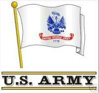 US ARMY FLAG MILITARY CAR WINDOW NEW DECAL
