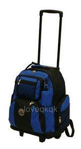 NEW 18 ROLLING WHEELED BACKPACK/ BOOKBAG/ CARRY ON