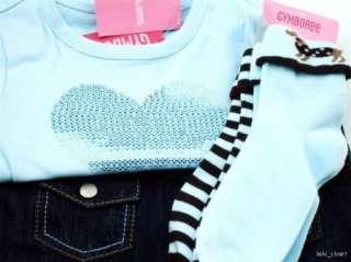 Girls Best Friend 4 Pc Vest Skort Heart Tee Socks Sz 6 NWT