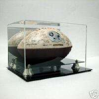 Autograph Full Size NFL Football Deluxe Acrylic Display Case w/Mirror