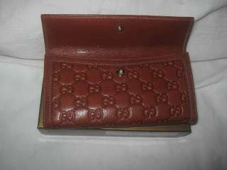 NEW GUCCI WALLET LEATHER CONTINENTAL BROWN