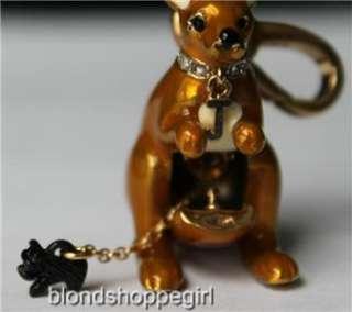 NWT Juicy Couture GOLD KANGAROO CHARM Yorkie Scottie Dog Animal