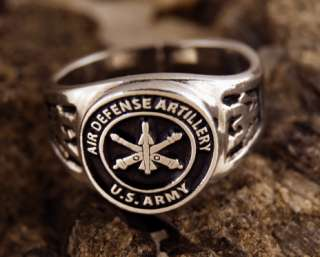 US Army Air Defense Artillery ring Military Ring