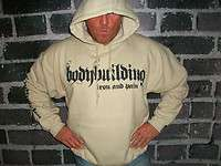 Bodybuilding Clothing Hoodie Workout Top Sand |