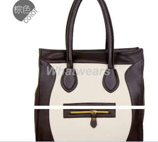 Super Star Woman Clutch Handbag Bag PU Leather Tote Hobo Satchel