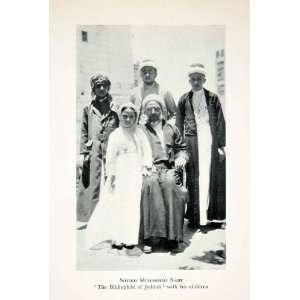 1928 Print Sheikh Muhammad Nasif Portrait Costume Children Saudi