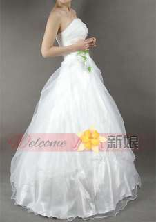 white organza zip wedding dress bride gown
