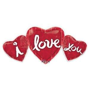 Love Balloons   Love You Heart Trio Super Shape Toys