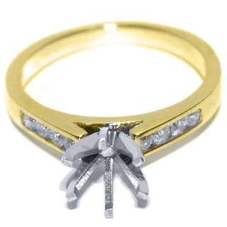 CARAT WOMENS DIAMOND ENGAGEMENT RING SEMI MOUNT ROUND CUT YELLOW GOLD
