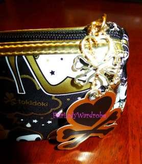 NWT Tokidoki 24 Karat Black Gold Makeup Pencil Bag