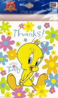 TWEETY BIRD LOONEY TUNES Party Supplies THANK YOU NOTES 726528073479