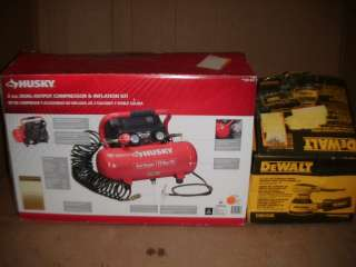 NAME BRAND AIR COMPRESSOR AND DEWAL HAMMER DRILL |