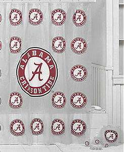 Alabama Crimson Tide 7 Pc Bath Set, Shower Curtain,WB