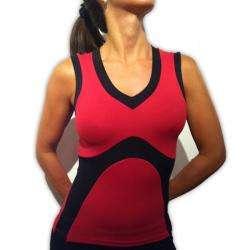 Pezzi Sport Activewear Color Block V Neck Tank Top