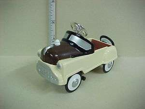 Cream & Brown Pedal Car (Antique Style) #XY115 Dollhouse Miniature