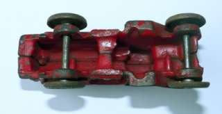 Antique CAST IRON TOY OIL TANKER TRUCK Red Arcade
