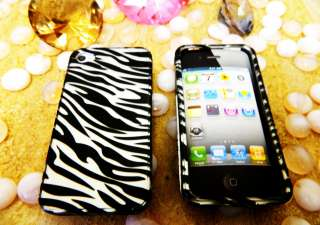 Apple iPhone 4 4S 4G 4GS Hard SanpOn Cover Case Black White Silver