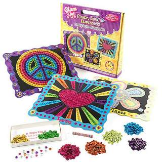 Glam Art Peace Love and Happiness, Glam Art Craft Kit, Sequin Art Kit